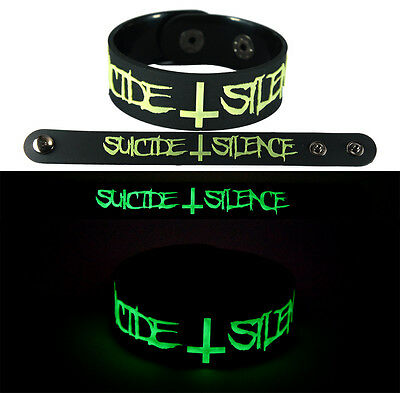 SUICIDE SILENCE  NEW! Bracelet Wristband gg130 Glow in the Dark/Wake Up