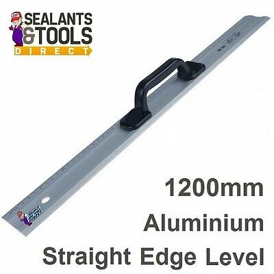 Quality Pro Aluminium Rule Ruler Straight Edge 1200mm plasterboard marking out
