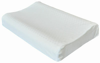 Therapeutic Latex Foam Pillow Contoured Shape Dual Support Zone 60x40x12/10cm