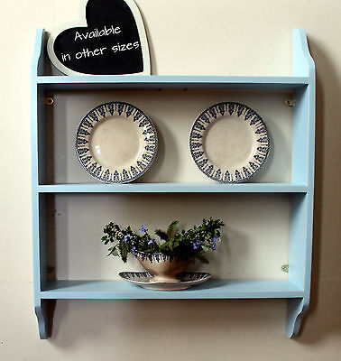 Shelf Storage Unit Solid Wood Traditional Wooden Wall Shelf Hand-painted
