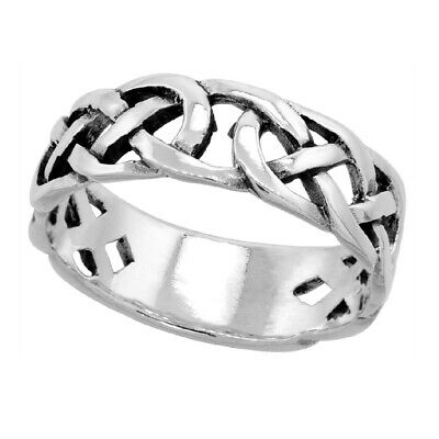 Sterling Silver Celtic Knot Wedding Band / Thumb Ring