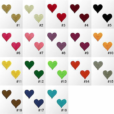 """#900R Small Heart Love Embroidered Sew Iron On Motif Patch Badge Applique 0.75"""""""