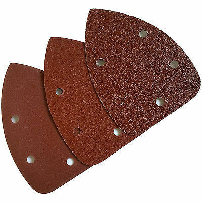 Palm Sander Pads Velcro detail Palm Sanding Pads triangle sheets 40 80 120 grit