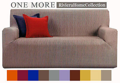 Copridivano 3 Tre Posti Tinta Unita One More Riviera Home Collection - 10 Colori