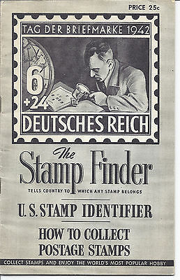 "US Stamp Reference Identifier ""The Stamp Finder"" - 1954 - with Ad Post Card*"