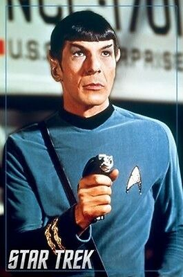 Star Trek The Original Series Spock Portrait Image 24 x 36 Poster, NEW ROLLED