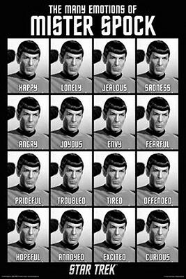 Star Trek The Original Series Many Emotions of Spock 24 x 36 Poster, NEW ROLLED