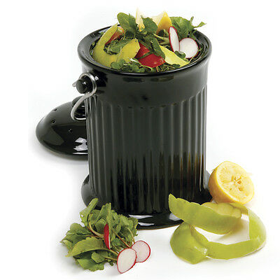 93 - Norpro One Gallon Ceramic Compost Keeper