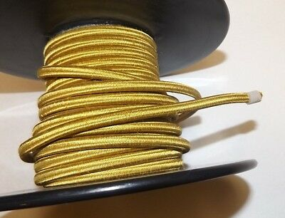 GOLD PARALLEL RAYON COVERED LAMP CORD SOLD BY THE FOOT NEW 30274K