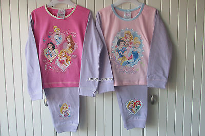Girls Disney Princess Pyjamas Cinderella Snow White Childrens Character Set Gift