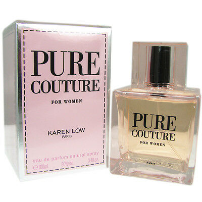 PURE COUTURE FOR WOMEN BY KAREN LOW-EDP-SPRAY-3.4 OZ-100 ML-MADE IN FRANCE