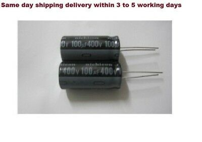 15pcs Nichicon100uF 400v 105C Radial Electrolytic Capacitor Long Life