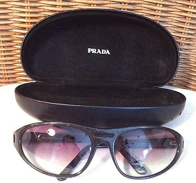 d816a373df3e PRADA Unisex Black Wrap Sunglasses w  Case Guaranteed Authentic! Nice  Preowned