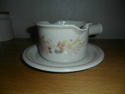 Boots Hedge Rose Sauce Boat And Stand