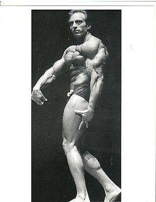 Bodybuilder PAT NEVE Bodybuilding Muscle Photo B&W