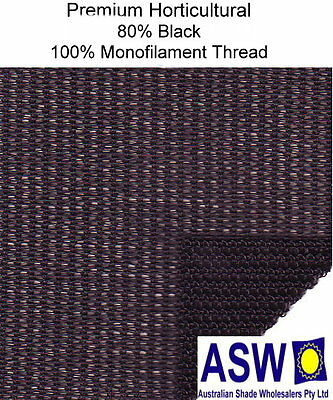80% UV 3.66m wide BLACK SHADECLOTH Premium Horticultural Commercial Shade Cloth