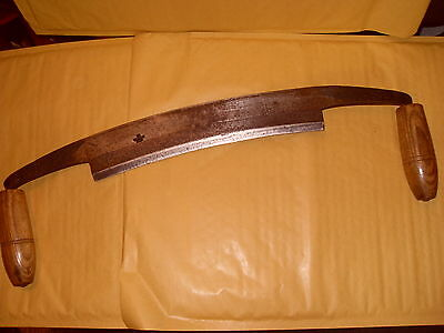 """Large Ward (W&P) 11"""" Drawknife - Total Length Around 21"""" - As Photo"""