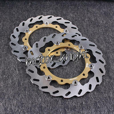 Gold Front Brake Disc Rotor Motorcycle For Yamaha XP T-MAX 500 ABS 500 2008-2012