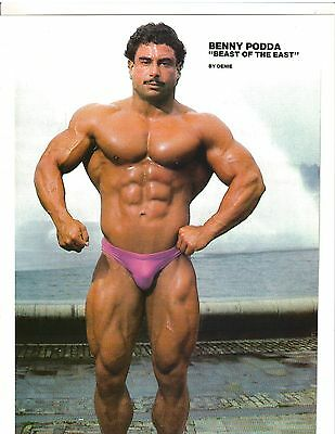 "Bodybuilder Benny ""THE BEAST"" Podda Bodybuilding Muscle Photo Color"