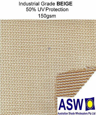50% UV 1.83m x 50m roll BEIGE SHADECLOTH Industrial Fence Shade Cloth Building