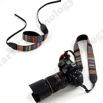 Vintage Soft Camera Shoulder Neck Strap For Nikon Canon Sony Panasonic SLR DSLR7