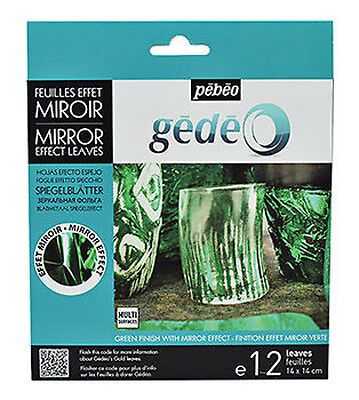 Pebeo Gedeo Gilding Foil Leaves Mirror Finish 12 Colour Sheets in GREEN