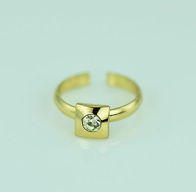 Toe Ring Gold Tone Adjustable With Rhinestone Feature Brand New Uk