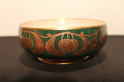 Duncan HC Royal Bavaria Hand Painted Fruit Dish with a Pink Lustre Interior