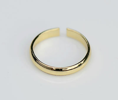 Toe Ring Gold Tone Adjustable Plain Brand New Uk
