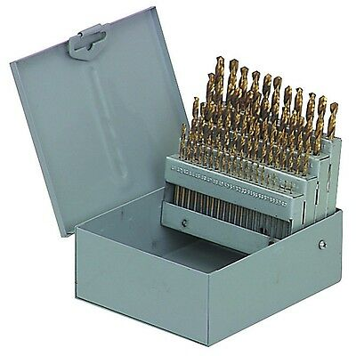 60 Piece Titanium Nitride Coated Numbered Drill Bit Set Run cooler last longer
