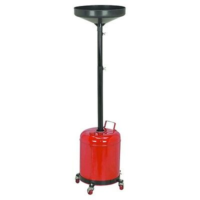 Adjustable & Movable 5 Gallon Oil Drain Dolly for garage or auto repair shop!