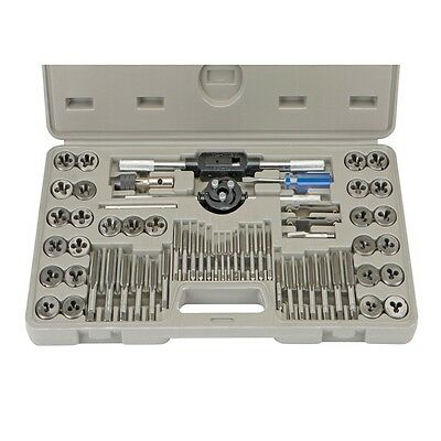 60 Piece Alloy Steel SAE & Metric Tap and Die Set With Case Included!