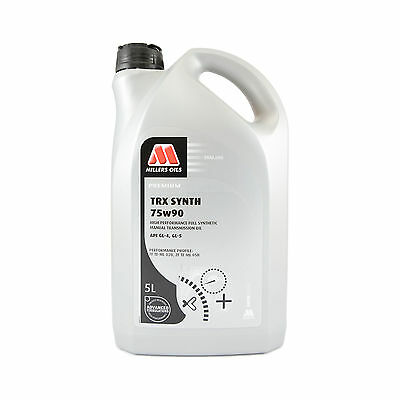 Millers Oils TRX Synth 75W-90 Full Synthetic Gear Oil 75W90 Fluid 5 Litres 5L