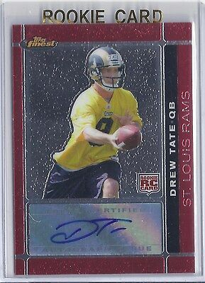 Verzamelingen Amerikaans voetbal Louis Rams Auto Card 2007 SP Rookie Threads Signing Day #SDA-DT Drew Tate St