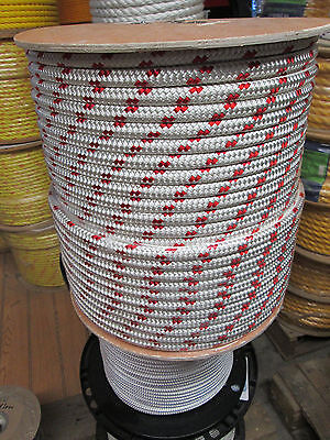 "wire pulling rope,anchor rope 1/2"" x 150' doublebraid Polyester Made In USA"
