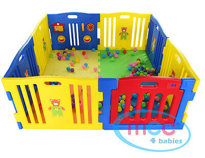 8 Sides Large Foldable Plastic Baby Playpen Play Pen With Educational Functions