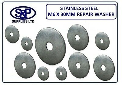 M6 (6Mm) Stainless Steel Repair Washer Penny Washers 30Mm Outside Diameter