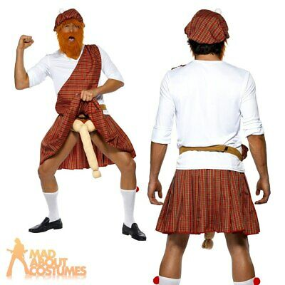Adult Scotsman Well Hung Highlander Scottish Fancy Dress Costume Stag Party