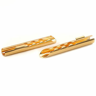10 Solder Type BFA Plugs - Gold Plated Hollow Z-Banana Cable Connectors BFAPLU01
