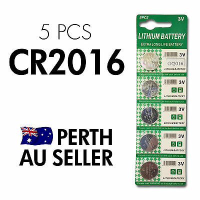 5 PCS x CR2016 BR2016 LM2016 3v Lithium batteries button cell coin