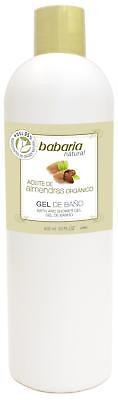 Babaria Organic Almond Oil Bath and Shower Gel 600ml