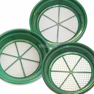 3pc CLASSIFIER SCREEN SIFTING PANS Gold PANNING 1/2,1/12,1/20, Sluice, Dredging