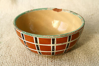 ANTIQUE 19`c ISLAMIC Ottoman Empire Glased Ceramic bowl #3
