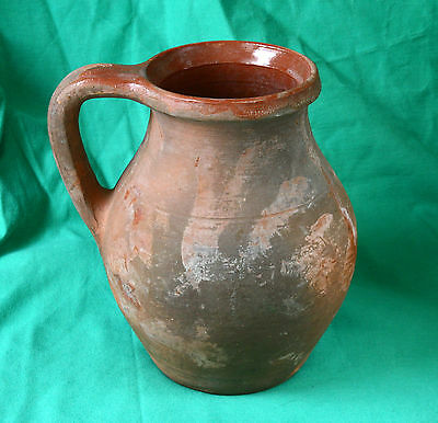 ANTIQUE 19`c ISLAMIC Ottoman Empire GLAZED OLD PITCHER JAR JUG
