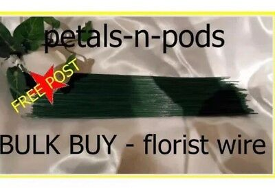 200 x 22 Gge FLORIST WEDDING FLOWER GREEN WIRE 9 inch bulk buy- FREE POST