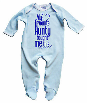 "Dirty Fingers Baby Girl Sleep suit Gift ""My Favourite Aunty bought me this"""