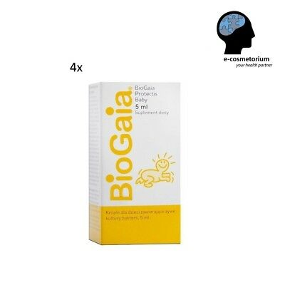 4 x BioGaia Probiotic Baby Colic drops 0.67oz - *Free Shipping Tracking Number*
