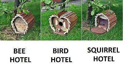 Hanging Wooden Insect Bee Hotel House Box Nest Bug Ladybird Garden Keeping New