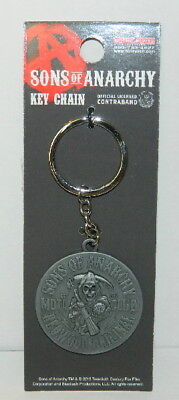 Sons of Anarchy TV Series Moto Club Logo Metal Keychain, NEW UNUSED