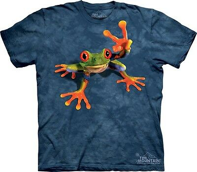 Victory Frog T-Shirt by The Mountain. Retro Hippie Peace Toad Sizes S-5XL NEW